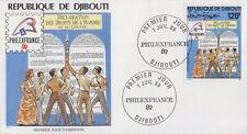 Enveloppe  FDC  1er  Jour    DJIBOUTI    PHILEXFRANCE  1989