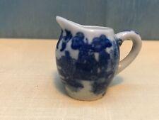 Vintage 1960's childs tea set creamer blue willow pattern Japan