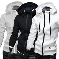 Mens Hoodie Sweatshirt Sweater Hooded Casual Tops Jacket Coat Outwear Zipper