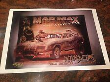 MAD Max Fury Road Interceptor Signed Print