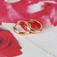 Pendientes aros de mujer sencillos con oro rosa 18 kgf gold filled