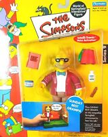 SERIES 9 SUNDAY BEST GRAMPA THE SIMPSONS WOS ACTION FIGURE PLAYMATES  MIP