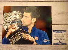 Novak Djokovic Signed Autographed 8x10 Photo Beckett BAS COA c