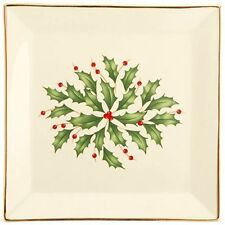 Decorative Holiday Square Dish Ivory Dinnerware kitchen Christmas decor