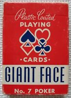 ARRCO Vintage Streamline Style No. 7 Giant Face Playing Cards Full Poker Deck