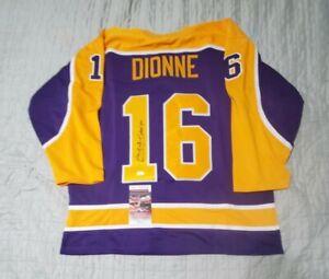 Kings MARCEL DIONNE Signed Autographed hockey Jersey JSA COA size XL