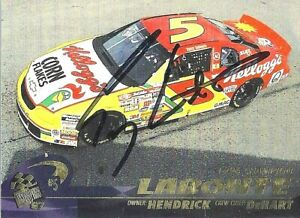 TERRY LABONTE  -  Autographed [c8]  1997 Press Pass  Card #34