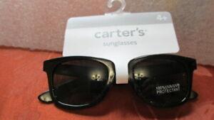 BOYS CARTER'S SUNGLASSES BLACK GLASSES 100% UVA UVB PROTECTANT AGES 4+