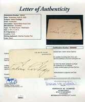 Cavin Coolidge JSA Loa Hand Signed White House Card Autograph
