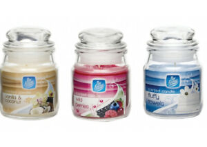 3x Pan Aroma Candles Small Jars Assorted Fragrances Scented Candles Jar