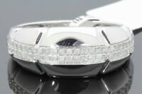 10K WHITE GOLD .40 CARAT MENS REAL DIAMOND ENGAGEMENT WEDDING PINKY RING BAND