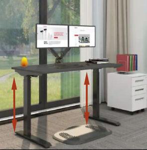 Electric height adjustable standing desk sit stand desk workstation 120X60 black