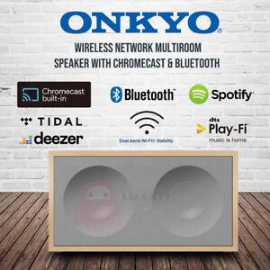 Onkyo Wireless multi-room Speaker Dual-band Bluetooth Chromecast Audio System