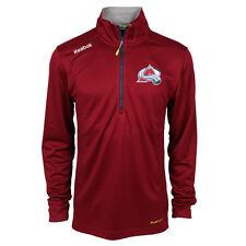 Men's Colorado Avalanche Reebok Baselayer Quarter Zip Pullover Jacket Size Small