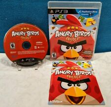 Angry Birds Trilogy (Sony PlayStation 3, 2012) with Manual - Tested & Working