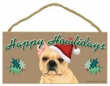 "FRENCH BULLDOG--Happy Howlidays-Dog Decorative Wood Plaque/Sign 5""x10"""