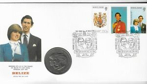 Belize 1981 Diana & Charles Wedding - Commemorative Coin Cover