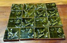 Antique Historical Architectural Encaustic Tile Co Art Pottery Butterfly Tiles
