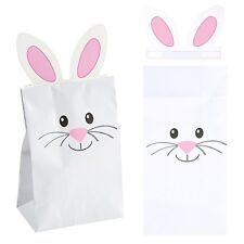 EASTER EGG HUNT PARTY PCK OF 12 BUNNY RABBIT PAPER LOLLY TREAT GIFT FAVOUR BAGS