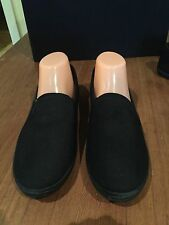 Black Casual Women's Flats #2 - Fabric Uppers, Lining & Rubber Sole - Size 10
