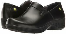 Work Wonders by Dansko Womens Coral Closed Toe Clogs, Black Leather, Size 11.5 D