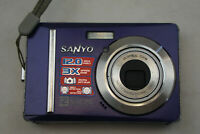 Sanyo Xacti VPC-S1275 12.0MP Digital Camera - Purple