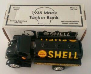 ERTL Scale Models SHELL 1935 MACK TANKER DIE CAST BANK Truck GJ-3011