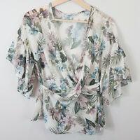 SHEIKE | Womens Palm Print Blouse Top [ Size AU 10 or US 6 ]