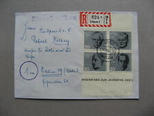 GERMANY BRD, R- cover 1964, block of 4 from S/S 20th ann. attack on A.H.