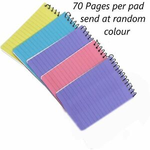 A7 Spiral Pocket Size Pads Lined Ruled Wire Bound Mini Note Book Pad Jotter