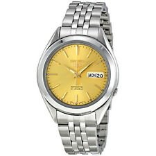 Seiko Automatic SNKL21 SNKL21K1 Men See Through Gold Dial 21 Jewels Steel Watch