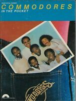 COMMODORES IN THE POCKET SONGBOOK Piano Vocal Guitar Sheet Music 1981 Rare OOP