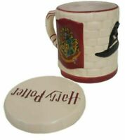 Harry Potter Ceramic Mug 3D Hogwarts Drink Cup With Lid Coaster Gift Boxed