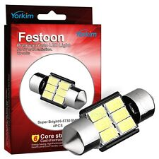 "Yorkim 31mm (1.25"") 6-SMD 5730 Super Bright FestooncLED Bulb, 3157 LED CANBUS"