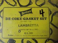 LAMBRETTA CENTO 100 98CC 1965- DE COKE GASKET SET. NOS 4