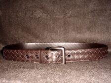 Bottega Veneta ESPRESSO INTRECCIATO Calf Leather Belt. 40/100