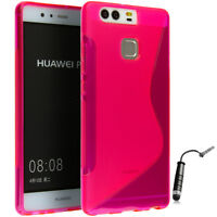 Huawei P9 Lite Handy Tasche Handyhülle Silikon S-Line Case Pink ..
