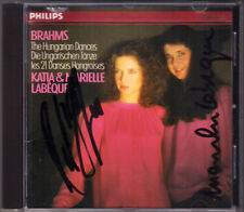 Katia & Marielle LABEQUE Signed BRAHMS 21 Hungarian Dances Ungarischen Tänze CD