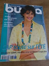 MAGAZINE BURDA TENDANCES CAP SUR L'ETE RAYURES/FLEURS JUIN 2006 N° 78