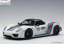 AUTOart 77927 1:18 Porsche 918 Spyder Weissach Package - White / Martini Livery