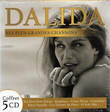 Coffret 5 CD : DALIDA - Ses Plus Grandes Chansons ( 100 titres ) NEUF cellophané