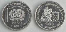 Dominikanische Republik / Dominican Republic 1 Peso 1986 p65 unz.