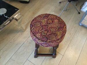 vintage retro solid wood original pub bar stool games room mancave comfy