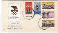 Italy 1959 Olympic games Triple Cancel  FDC Five Stamps Cover ref 22387