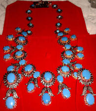 ANTIQUE ROSE CUT DIAMOND 8.50ct SILVER RUBY TURQUOISE WEDDING WEAR NECKLACE SET