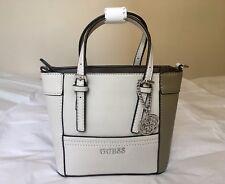 NWOT GUESS Delaney Mini Women's PetiteTote Handbag Purse Bone Multi