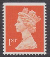 GB - 1990 1st Class (NVI) Bright Orange-red (PP) Low OBA Variety - UM / MNH