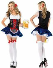 Women Oktoberfest Beer Carnival Wench Maid Costume Outfit Fancy Dress Halloween