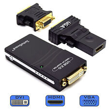 USB 2.0 to VGA / DVI / HDMI Multi Display Adapter / Video Graphics Adapter