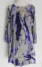 New Alfani Jersey Dress Knee Length Multi-Color 3/4 Sleeve Size M